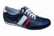 Pantofi barbati sport din piele naturala albastri
