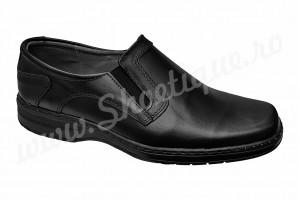Pantofi lati  usori piele naturala negri talpa EPA 39-46