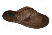 Papuci barbati maro din piele naturala