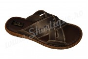 Papuci barbatesti din piele naturala maro