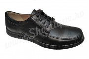 Pantofi lati din piele naturala cu siret talpa EPA