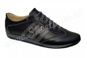 Pantofi sport barbatesti din piele naturala negri