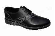 Pantofi cu siret din piele naturala negri