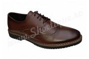 Pantofi romanesti din piele naturala maro