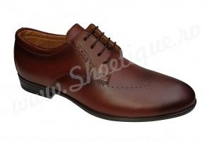 Pantofi eleganti barbatesti din piele naturala maro