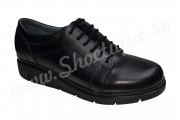 Pantofi negri dama din piele naturala neteda