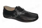 Pantofi cu lira din piele naturala negri