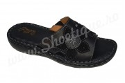 Papuci de dama din piele naturala negri
