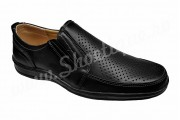 Pantofi usori lati piele naturala perforata negri talpa EPA