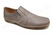 Pantofi usori lati piele naturala crem perforata talpa EPA