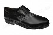 Pantofi din piele naturala negri cu siret lati 39-46