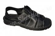 Sandale barbatesti din piele naturala negre