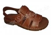 Sandale barbatesti din piele naturala maro