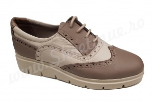 Pantofi crem dama din piele naturala talpa ortopedica