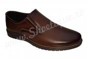 Pantofi fara siret din piele naturala maro