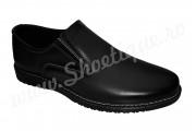Pantofi fara siret din piele naturala negri