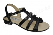 Sandale de dama din piele naturala negre