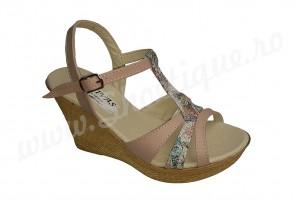 Sandale de dama din piele naturala cu platforma
