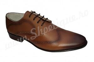 Pantofi maro barbatesti eleganti piele naturala