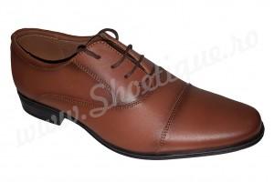 Pantofi maro barbati eleganti piele naturala