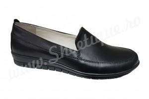 Pantof-balerin negru de dama din piele naturala