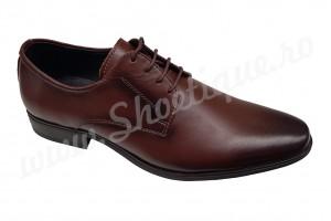 Pantofi maro barbatesti eleganti din piele naturala