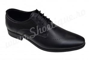 Pantofi barbatesti eleganti din piele naturala negri