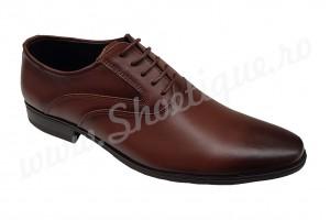 Pantofi barbati eleganti Oxford piele naturala maro