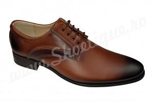 Pantofi barbatesti eleganti maro din piele naturala