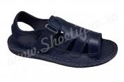 Sandale barbatesti din piele naturala bleumarin