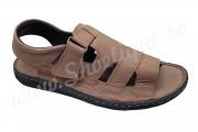 Sandale barbatesti din piele naturala crem