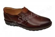 Pantofi din piele naturala  fara siret maro