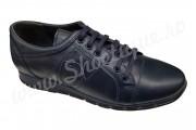 Pantofi barbatesti sport din piele naturala bleumarin