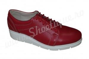 Pantofi rosii de dama din piele naturala