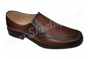 Pantofi lati eleganti din piele naturala maro