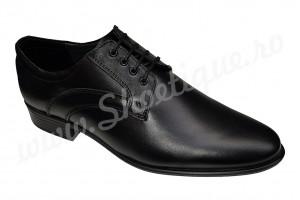 Pantofi negri barbati eleganti din piele naturala