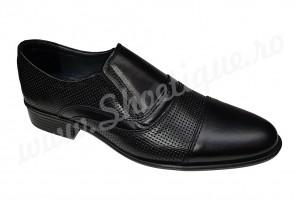 Pantofi loafers din piele naturala negri