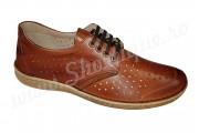 Pantofi usori lati piele naturala perforata maro talpa EPA 45 si 46