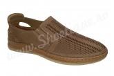 Pantofi usori din piele naturala perforata maro