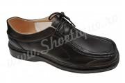 Pantofi lati usori piele naturala negri
