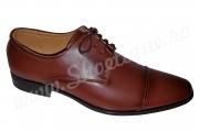 Pantofi eleganti barbatesti din piele naturala maro-coniac