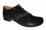Pantofi dama piele naturala box si piele lacuita punctata