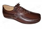 Pantofi cu lira din piele naturala maro