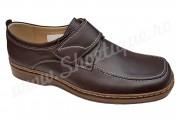 Pantofi lati din piele naturala maro