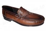 Scarpi clasici vintage din piele naturala maro
