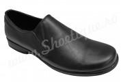 Pantofi lati din piele naturala negri fara siret
