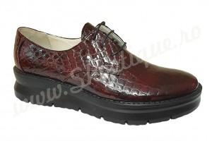 Pantofi dama din piele naturala croco si talpa ortopedica
