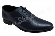 Pantofi eleganti Oxford piele naturala bleumarin