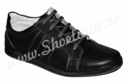 Pantofi sport barbati piele naturala negri