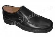Pantofi lati din piele naturala negri